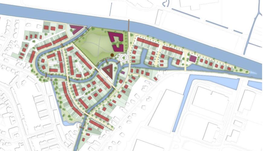 Definitieve situatie, bron: gemeente Katwijk